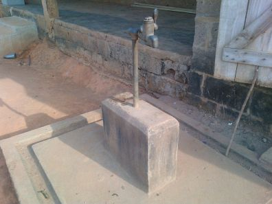 Old water pump in the community
